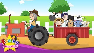 The Farmer in the Dell - Funny Animal Song - Popular Nursery Rhyme - Kids song with lyrics