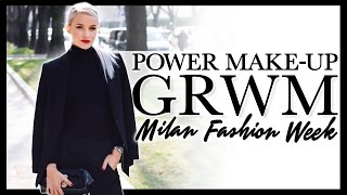 GET READY WITH ME: Classic Power Makeup in Milan!