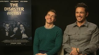Dave Franco shows James Franco how to play the really strange game of FINGERS!
