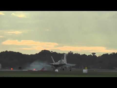 RAAF F/A-18A Hornets Landing @ RAAF Base Williamtown