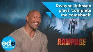 Rampage: Dwayne Johnson plays
