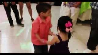 Amber dancing with a boy