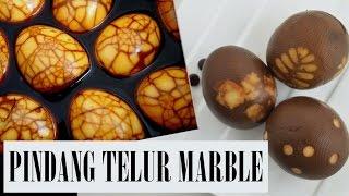 Pindang Telur Motif Marmer dan Pindang Telur Motif Daun