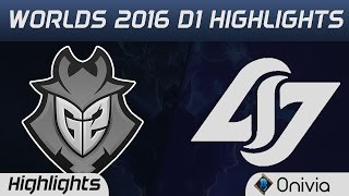 G2 vs CLG Highlights Worlds 2016 D1 G2 Esports vs Counter Logic Gaming