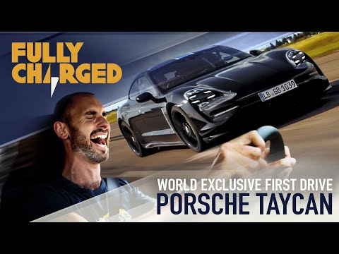 Porsche Taycan WORLD EXCLUSIVE genuine first drive & launch control testing 0 200kph Fully Charged