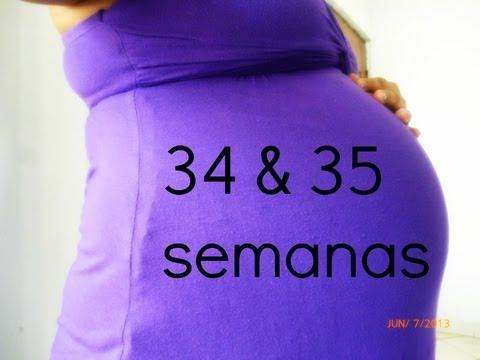 34 y 35 semanas de embarazo