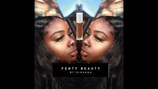 ♡ FENTY BEAUTY FIRST LOOK & DEMO x Deep skin #450