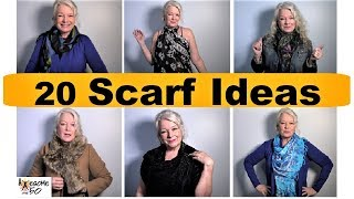 My Top 20 Scarf Styles, Ties, Tying, How To Fashion Lookbook of Scarves for Women