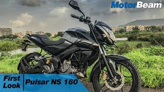 Pulsar 160 NS - First Look & Walkaround | MotorBeam