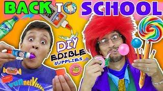 DIY EDIBLE SCHOOL SUPPLIES! Teacher vs  Supplies! FV Back to School Skit