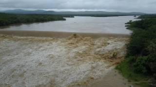 Notwane Dam overflowing at The Pump House