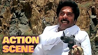 Mammootty Climax Fight | Action Scene | Dhartiputra | Mammootty, Rishi Kapoor | HD