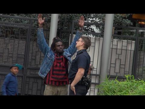 Cop Cutting ID's Prank!