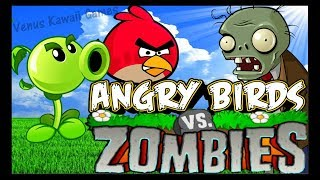 Angry Birds Vs Zombies Shooting Game Walkthrough Levels 1-17