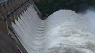 After 11 Years total ten gates are opened at Srisailam dam in Kurnool Dist.