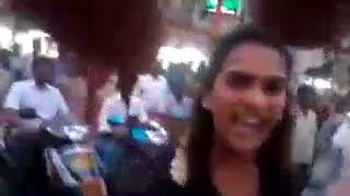 Tamil Girl Speaking  Bad words in Public