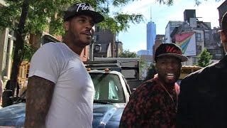50 Cent -- Bodyguarding for Carmelo ... Terrifies TMZ Photog   TMZ Sports