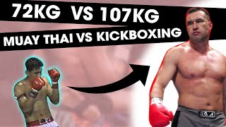 72KG Muay Thai Legend vs. 107 KG Kickboxing Legend | RIP Nokweed Davy