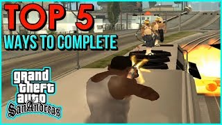 """GTA San Andreas - How To Complete the Mission """"Wrong Side Of The Tracks""""   Top 5 Ways"""