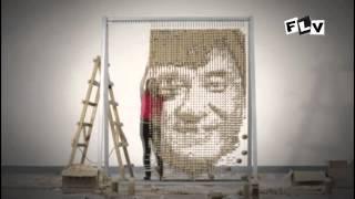 Portraiture Jackie Chan 64000 chopstick