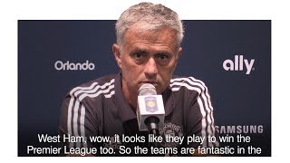 Jose Mourinho On Premier League Transfers - 'West Ham Aiming For The Title'