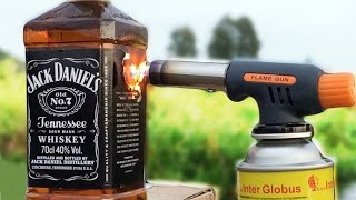 JACK DANIEL'S vs GAS TORCH EXPERIMENT GONE WRONG