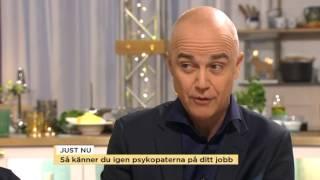 Så känner du igen en psykopat på arbetsplatsen - Nyhetsmorgon (TV4)