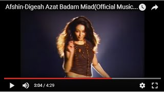 Afshin-Digeah Azat Badam Miad(Official Music Video)