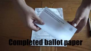 How to Complete a Postal Vote UK