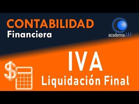 Supuesto resuelto con IVA y liquidación final - Contabilidad Capítulo 20 curso - academia JAF