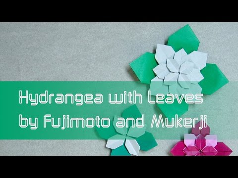 Mothers Day Origami Tutorial Flower Hydrangea With Leaves Shuzo