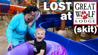 Michael & Granny - Best Hiding Spot at Great Wolf Lodge!! {skit}