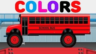Learn Colors with Coloring Ten Little Buses - Colours for Children