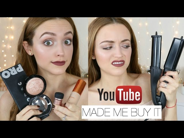 Youtube Made Me Buy It! Tag   Beauty Products I Bought BECAUSE OF YT HYPE!