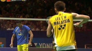 Lee C.W. v L. Dan  MS-F  Yonex All England Open Badminton Champ. 2012