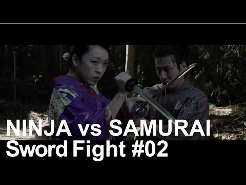 Sword Fight Scene - Japanese Ninja vs Samurai Battle Action #02