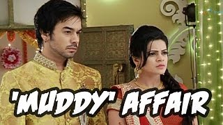How did Bihaan and Thapki fall in the mud?