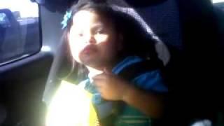 Aniya eating hot fries and dancing!