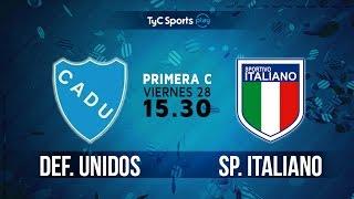 Primera C: Defensores Unidos (Z) vs. Sportivo Italiano | #PrimeraCenTyC