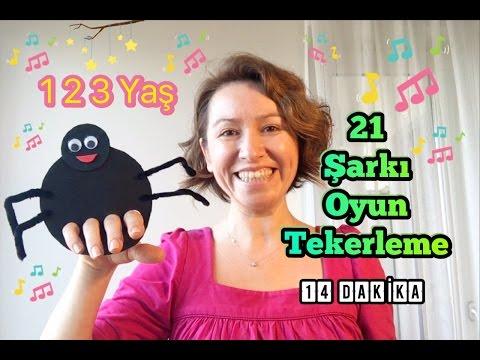 21 Şarkı Oyun Tekerlerme 1 2 3 Yaş Grubu için