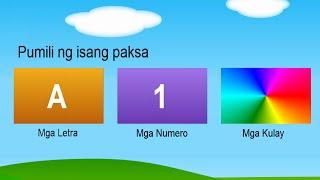 Mga Libreng Letra, Numero at Kulay