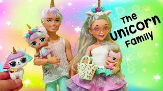 LOL Families ! The Unicorn Family Pet Prank | Toys and Dolls Fun for Kids with Toy Babies | SWTAD