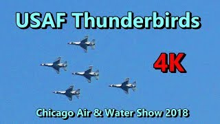 USAF Thunderbirds  ✈️ Chicago Air & Water Show Practice Aug 2018