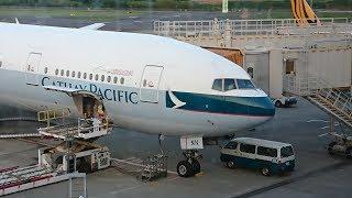 飛行記錄20170605【東京成田→香港】國泰航空 CX-505 波音777-300 商務艙(HD)
