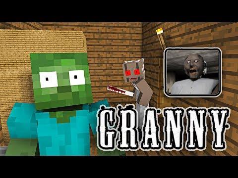 Download Monster School: GRANNY HORROR GAME CHALLENGE - Minecraft Animation free