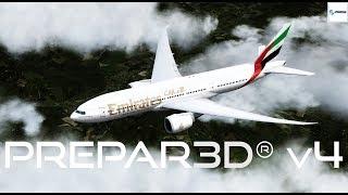 Prepar3D v4 PMDG 777 Landing  EHAM Amsterdam Airport Schiphol