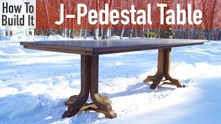 J-Pedestal Dining Table