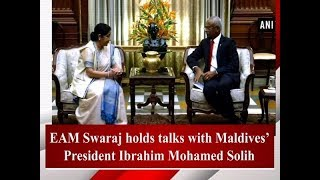 EAM Swaraj holds talks with Maldives