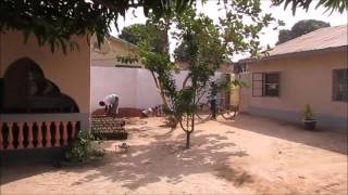 A typical compound in Africa, The Gambia