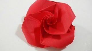 Como hacer una rosa de papel muy facil - Flor de papel facil